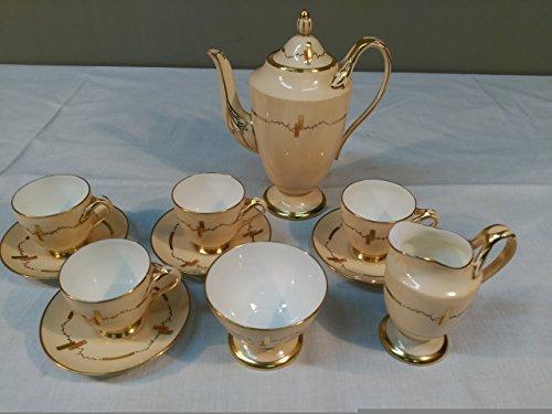 Juego de café Art Decó en porcelana original.
