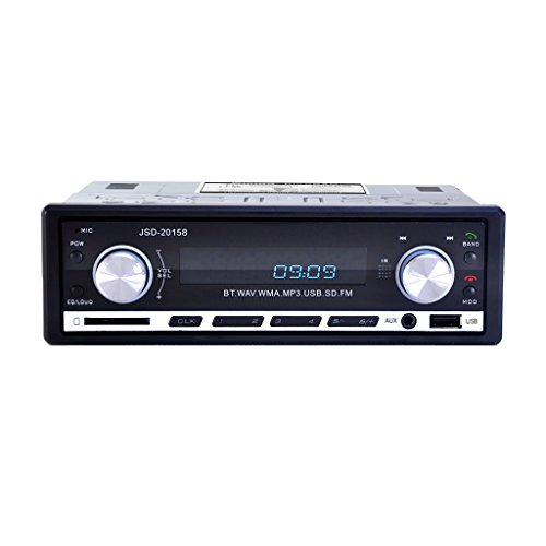 MagiDeal Universal Auto radio USB/ CD-Receiver mit Bluetooth Audio-Empfänger/ MP3-Player - Draht Cd-player