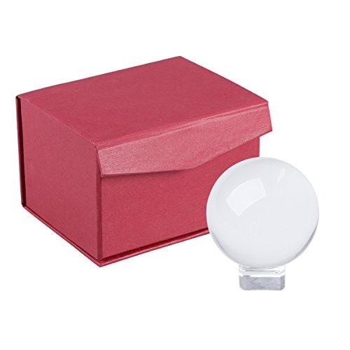 VORCOOL Bola de Cristal Transparente con Soportes de Cristal y la Caja Bola  para Fotografía Meditación 70da1617d2b7b