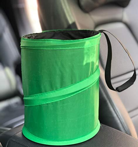 Konsole 1 Tür (L.tsn Auto Mülleimer, Automatischer Organizer Für Müll Mülltonne Vorratsbehälter Passend Getränkehalter In Konsole Oder Tür Travel, Green)