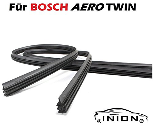 Preisvergleich Produktbild 550 / 530 2x Wischergummi Scheibenwischer Gummis Ersatz für Bosch Aerotwin Scheibenwischer INION® (2x Ersatzgummi 550mm 530mm)