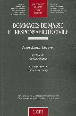 Dommages de masse et responsabilité civile