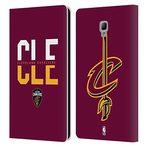 Head Case Designs Offizielle NBA Typographie 2019/20 Cleveland Cavaliers Leder Brieftaschen Huelle kompatibel mit Samsung Galaxy Tab A 8.0 2017 -