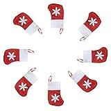 Hemoton 10 Piezas Bolsas de vajilla navideñas en Forma de Calcetines Elegantes Creativas Encantadoras Bolsas de Cubiertos portátiles Bolsas de Cubiertos para Tenedores Cuchillos cucharas