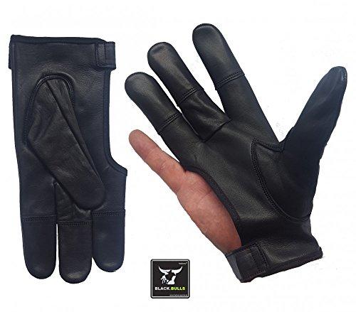 Schießhandschuh, Bogenhandschuh BLACK.BULLS 4 Finger RH / S-XXL f. Bogensport (XL)