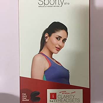 iBall Musi Sporty Wireless Sports Headset (Black and Red)