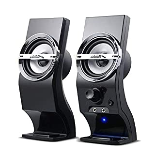 Audiocore AC805 Stereo Speakers, 2.0 PC, 6 W RMS, Black