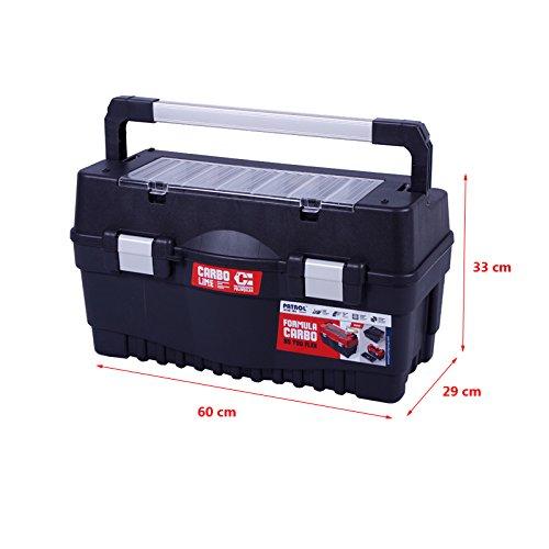 Werkzeugkoffer 60cm Werkzeugkasten Sortimentskasten Werkzeugkiste Angelkoffer Kunststoff Angelkiste Anglerkoffer Sortierkasten Fachkasten - 2