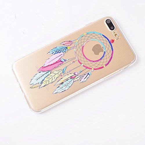 iPhone 7 Plus Cover , YIGA Dente di leone Super Sottile Cristallo Chiaro Case Trasparente Silicone Morbido TPU Custodia per Apple iPhone 7 Plus (5.5 pouces) TT7