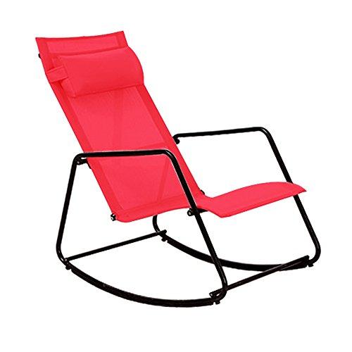Fauteuils inclinables LHA Fauteuil à Bascule, Chaise, Chaise, Vieille Chaise, Fauteuil à Bascule, Chaise de Soleil Loisirs, Fauteuil (Couleur : Red)