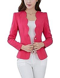 EFINNY Women Office Blazer Jacket One Button Business OL Long Sleeve Outwear Suit(Shipped From USA!!!)