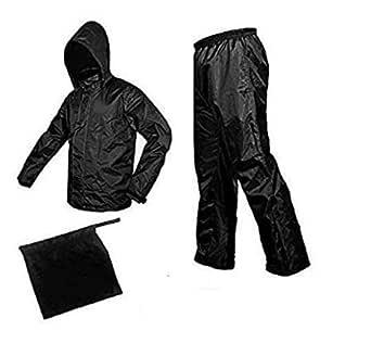 ROYALS CHOICE 100% Waterproof Rain Coat (Men's Women) Black Size(XL)