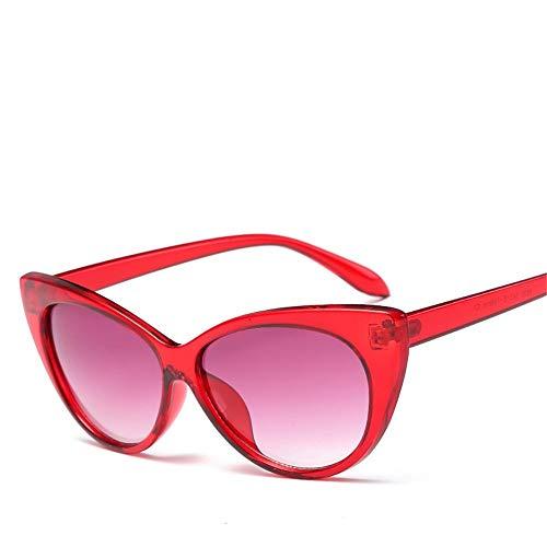 Top Shishang Modische Damen UV400 Sonnenbrillen, die über Normale Brillen für Damen passen.Ideal zum Fahren, Radfahren, Sport, Rot