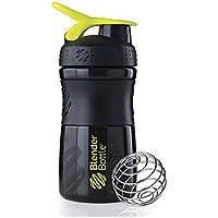 BlenderBottle Sportmixer - Bottiglia/shaker/tazza, Multicolore (Nero/Verde), 794
