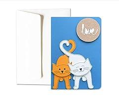 Idea Regalo - Micetti innamorati - love - cuore - san valentino - biglietto d'auguri (formato 15 x 10,5 cm) - vuoto all'interno, ideale per il tuo messaggio personale - realizzato interamente a mano.