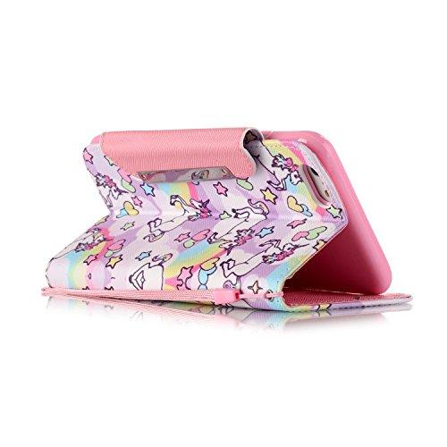 iPhone 6/6S Hülle, PU Leder Hülle für Ledertasche Schutzhülle Case[Stand Feature] Flip Case Cover Etui mit Karte Slots Hülle für Apple iPhone 6/6S (4.7 Zoll) Pferde