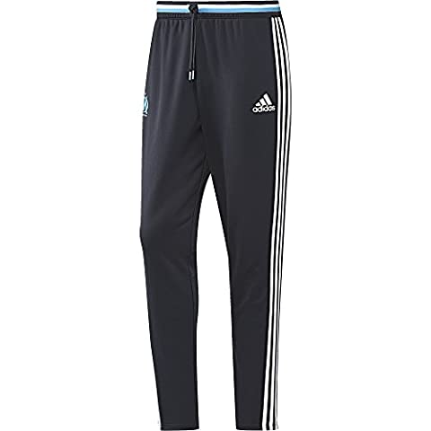 adidas Olympique Marseille Pantalon Homme, Night Navy/White/Om Blue, FR : L (Taille Fabricant : L)