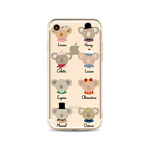 Coque iPhone 7 Plus Housse étui-Case Transparent Liquid Crystal en TPU Silicone Clair,Protection Ultra Mince Premium,Coque Prime pour iPhone 7 Plus-Koala-style 6 16