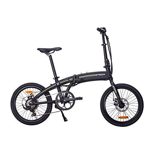 Lunex Bici Elettriche Pieghevoli E-Bike Bicicletta Elettrica pedalata assistita Shimano Caricatore USB 35km (Nero)