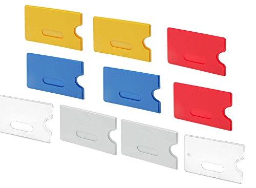 FleißIg 5x Schutzhülle Kreditkarte Ec-karte Hartplastik Personalausweis Kartenhülle Ausweishüllen