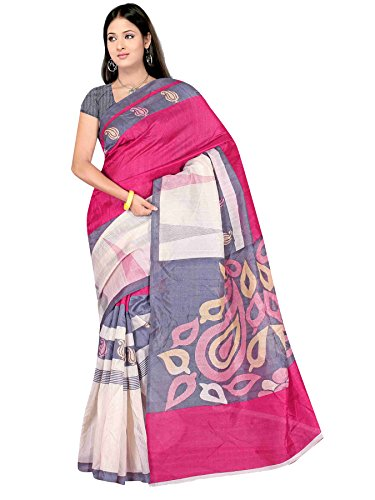 Winza Women's Cotton Silk Printed Saree (Bhagalpuri 1217_multicolor)