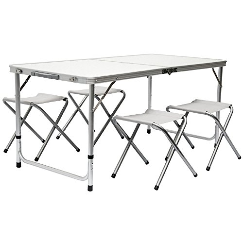 Amanka Camping Table Incl 4 Stools Portable Picnic Set