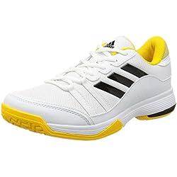 adidas Barricade Court, Zapatillas de Tenis Hombre, Varios Colores (Ftwbla / Negbas / Eqtama), 45 1/3 EU