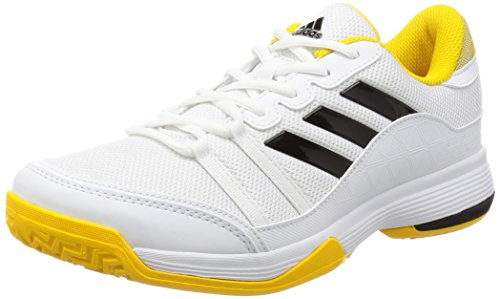 Adidas Barricade Court, Scarpe da Tennis Uomo, Nero (Footwear White/Core Black/EQT Yellow), 42 2/3 EU