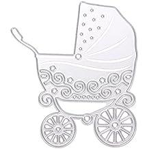 Powlance - Plantilla de rosas para manualidades, álbum de recortes, papel Baby Carriage