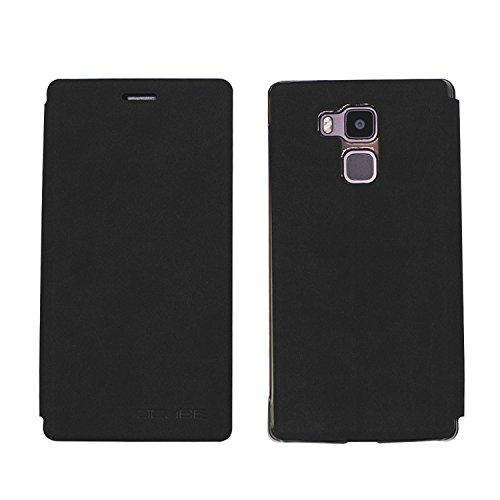 Guran® PU Leder Tasche Etui für Vernee Apollo Lite Smartphone Flip Cover Stand Hülle Case-schwarz