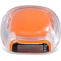 Wenquan,Multifuncional Unisex LCD podómetro Sport Step Calorie Distance Electronic Counter(Color:Naranja)