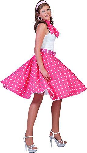Tellerrock Pink Weiß 50er Rock´n Roll Rock