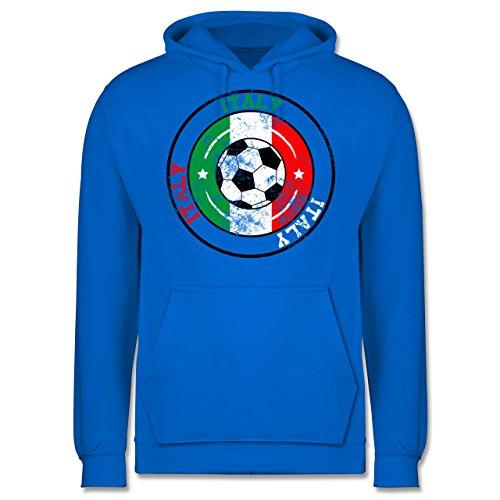 EM 2016 - Frankreich - Italy Kreis & Fußball Vintage - Männer Premium Kapuzenpullover / Hoodie Himmelblau