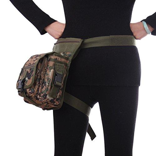 Femminile Borsa A Tracolla Tessuto Oxford Multifunzione Borsa Dell'uomo Sacca Da Gamba Tattici Esterni Fan Militari Combo Pack,1 1