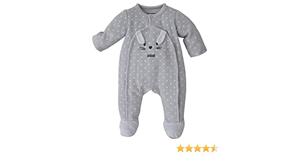 Sucre DOrge Pyjama Bebe Gris Imprime Etoiles
