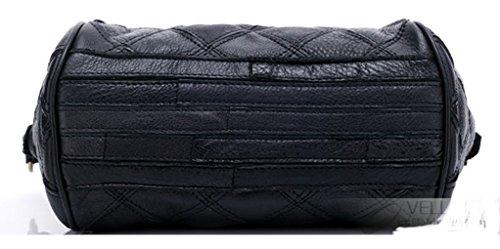 Keshi Cuir Nouveau style - Sac à main femmes - Porté MAIN et EPAULE Noir