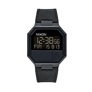 Nixon Herrenuhr Digital Quarz mit Lederarmband - A944001-00