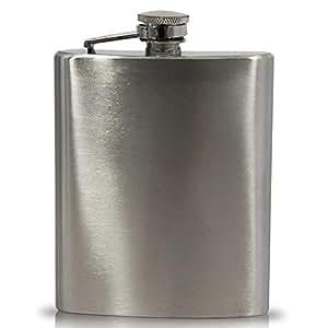 Flasque en acier inoxydable 8 x whiskey plate homme 200 ml biberon schnapsfläschchen