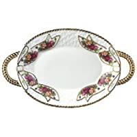 Royal Albert Old Country Roses Basketweave Tray by Royal Doulton