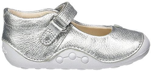 Clarks Baby Mädchen Little Mia Krabbel-& Hausschuhe Silber (Silver Leather)