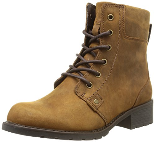 Clarks Orinoco Spice, Damen Halbschaft Stiefel, Braun (Brown WLined Lea), 37.5 EU (4.5 Damen UK)