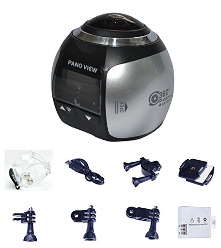 NORTH EDGE Mini 360 Grad Panorama Kamera 3D VR Live Video Vollansicht Aktion Sport Kamera 220 Weitwinkel Wasserdichte DV HD 2448P Drahtlose Wifi 30fps 16MP DV Camcorder Silber