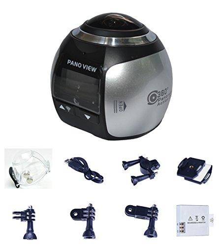 NORTH EDGE Mini 360 Grad Panorama Kamera 3D VR Live Video Vollansicht Aktion Sport Kamera 220 Weitwinkel Wasserdichte DV HD 2448P Drahtlose Wifi 30fps 16MP DV Camcorder Silber