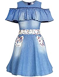 Naughty Ninos Denim Pleated Dress