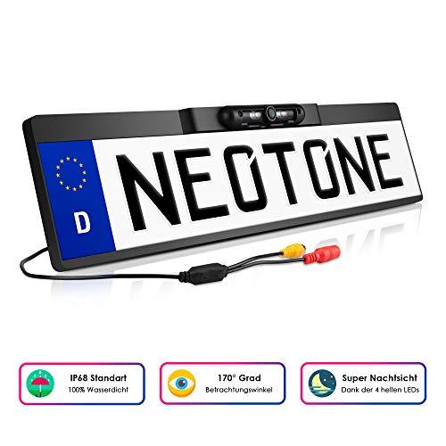NEOTONE NTK-180Z universelle Rückfahrkamera in Kennzeichenhalterung | 170° Weitwinkelobjektiv | IP67 Feuchtigkeitsschutz | Höchste Qualität | -