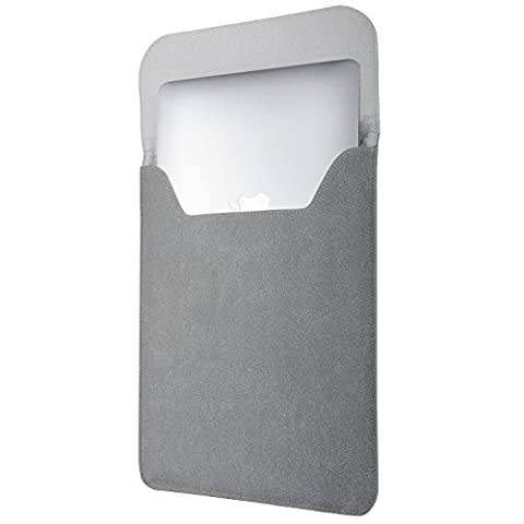 MacBook Air 13 Inch Sleeve Case,VDS Laptop Sleeve Slim Case Cover PU Tragetasche PU Ultrabook Netbook Hülle Tasche Tragen Fall Schutz Tasche für Macbook Air (13 Zoll, Grau)