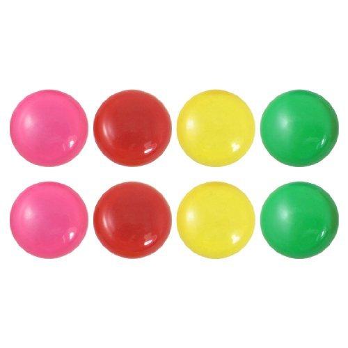 Runde Kunststoff-Abdeckung Magnetische Kühlschrank Aufkleber 8 Stück farbig sortiert - Für Abdeckungen Magnetische Kühlschränke