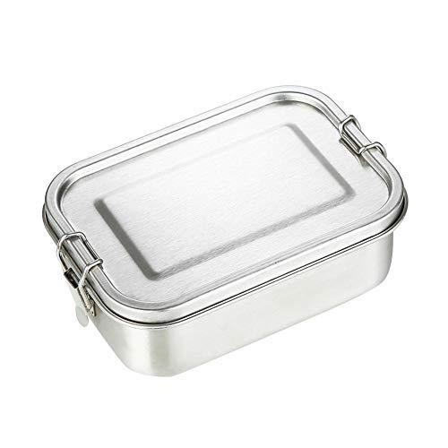 304 Edelstahl Lunch Box Wiederverwendbare Single Layer Adult Lunch Container Sealed Auslaufsicher Rechteckige Student Bento Box Für Kinder Erwachsene Work School 800 Ml -