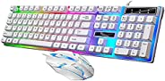 SOONGO G21B Keyboard Wired USB Gaming Mouse Flexible Polychromatic LED Lights Computer Mechanical Feel Backlit