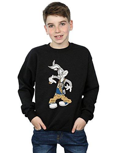 Looney Tunes Jungen Bugs Bunny Rapper Sweatshirt 9-11 Years Schwarz -